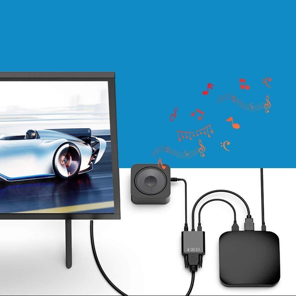 NWSAC HDMI a convertidor VGA con decodificador portátil Televisor ...