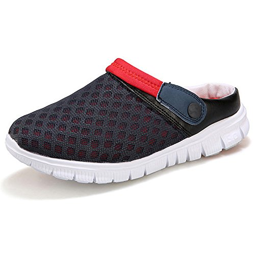 Eastlion Couples Mesh Cloth Shoes Unisex Beach Slippers Breathable Holes Sandals Blue Red sKx3lQhg