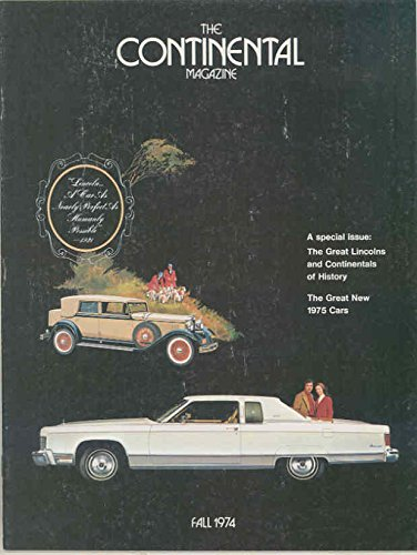 Fall 1974 Lincoln Magazine Brochure 1975 Mark IV History Lehmann Pet Limo from Lincoln Electric