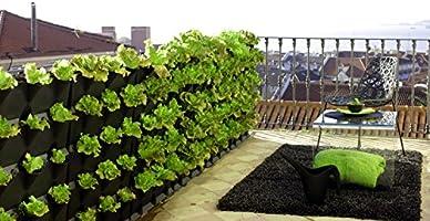minigarden 1 Juego Vertical para 9 Plantas, Jardín Vertical Modular y Extensible, Colocar en el Suelo o Colgar en la Pared, Mecanismo de Drenaje Innovador, Largo Ciclo de Vida (Blanco): Amazon.es: Jardín