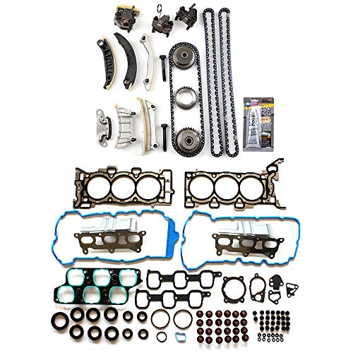 ECCPP Engine Timing Chain Kit Head Gasket Set for 07-08 Buick Enclave GMC Acadia Saturn Outlook 3.6L ()