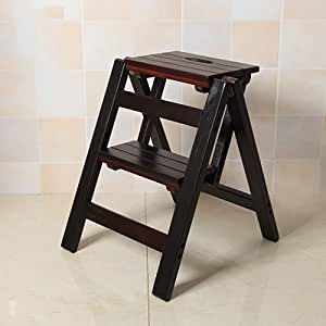 HYYDP 2 Pasos Plegables Taburete de Madera, Escalera Taburete Portátil Asiento Versátil Hogar Cocina Baño Muebles de Oficina Silla Escalera (Color : C): Amazon.es: Hogar