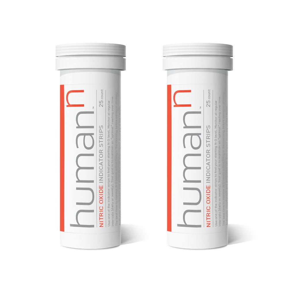 HumanN - Nitric Oxide Test Strips 50 Strips 2 Tubes of 25 Strips