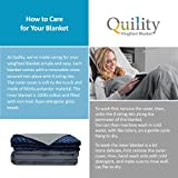 "Quility Premium Adult Weighted Blanket & Removable Cover | 20 lbs | 60""x80"" 