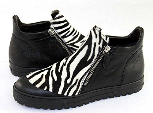 Shoe Laura weiß Kurzstiefeletten schwarz Schuhe Damenschuhe Bellariva 4800E 7Prx7Bw
