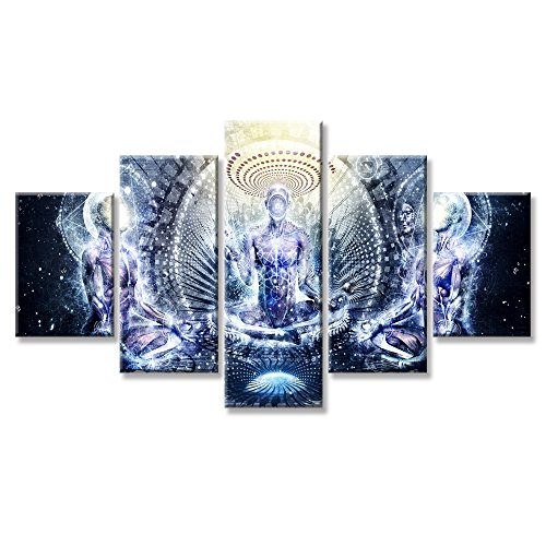 VIIVEI Buddha Psychedelic Trippy Wall Art Canvas Prints