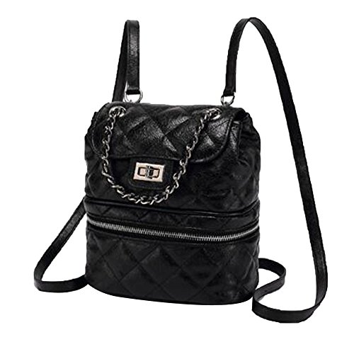Ademi Woman Backpacks Backpack Girls Backpack Bag Soft Leather Evening Bag Black