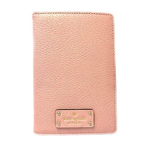 Kate Spade Leather Passport Holder Case (Pinkbonnet 656) by Kate Spade New York