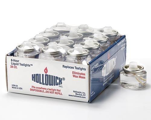 Tealight Fuel Cells - 8 Hour - Disposable Liquid Paraffin - 24 Pack