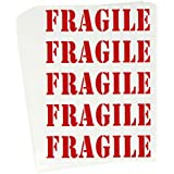 Tag-A-Room Color Coded Home Moving Box Labels Stickers (Fragile)