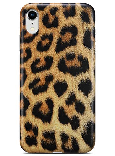 Coolwee iPhone XR Case,iPhone XR Leopard Case Slim Matte Leopard Floral Pattern Design for Women Girls Men Rubber Gel Bumper Soft Flexible TPU Case Cover for Apple iPhone XR [6.1 inch] - Gold