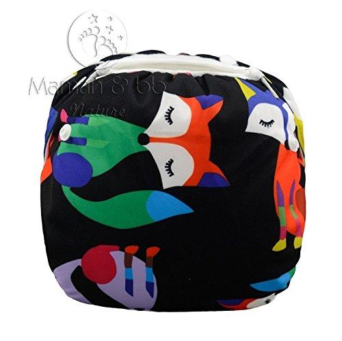Couche Maillot de bain lavable pour bébé nageur - Renards multicolores Maman et bb Nature