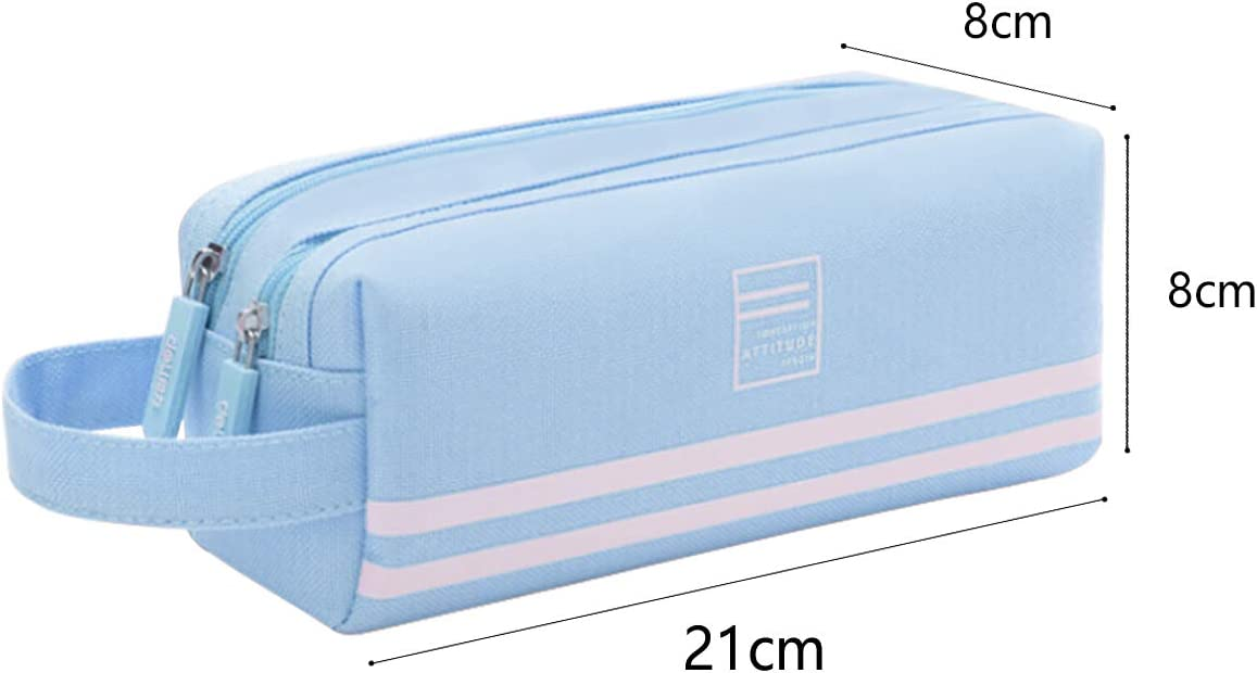 KidsPark Pencil Case Pink Large Capacity Pencil Cases Pen Bag Pouch Holder With Big Compartments for Boys Girls Students Women Men Children Teenage Adults