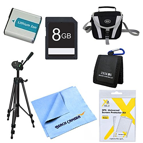 EN-EL5 Battery Kit 8GB SD Card, Card Carry Case, LCD Screen Protector Deluxe Carrying Case Micro fiber Cleaning Cloth 60 tripod Screen Protectors Nikon CoolPix P510 P520 P530 P500 P100 P90 P6000 P80 Carry Case Lcd Guard