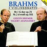 ブラームス:ヴァイオリン・ソナタ第1番、第3番