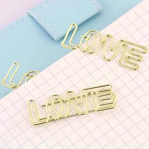 Clip para papel – 4 piezas/lote galvanizado dorado clips de papel Pin de metal marcadores de libros de ...