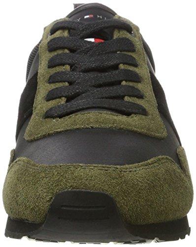 Tommy Hilfiger M2285axwell 11c5, Scarpe da Ginnastica Basse Uomo Verde (Olive Night-black)