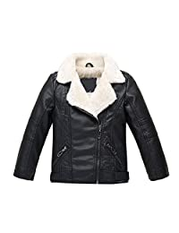 ZPW 2018 Boys Girls Motorcycle Faux Leather Jackets 2 Version Available
