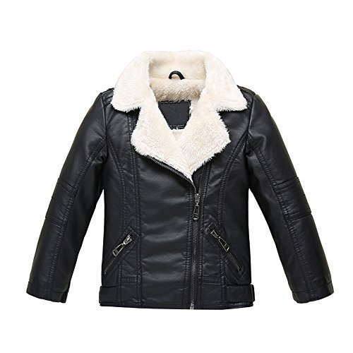 ZPW 2018 Boys Girls Spring/Autumn/Winter Motorcycle Faux Leather Jackets 2 Version Available