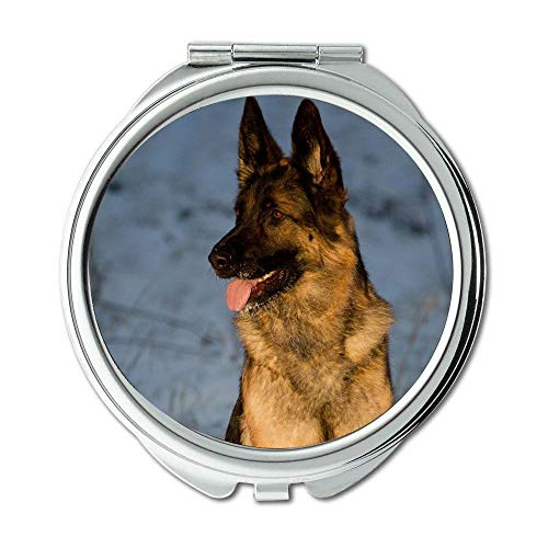 Mirror,Round Mirror,Pug Dog dog b q,pocket mirror,1 X 2X -
