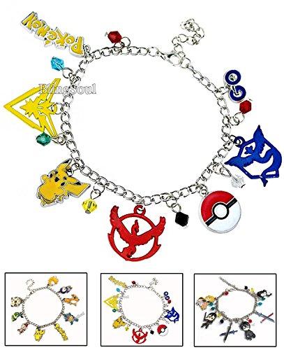Gardevoir Costume (NEW Pokemon Go Charm Baraclet (Multicolor) - Halloween gift for men)