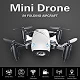 Cewaal S9 Mini Folding Pocket Quadcopter Drone,Pressure Set High/3D Tumbling/A Key Return,Drone with Headless Mode for Beginners