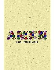 Amen: 2019 - 2020 Planner 2 Years Monthly Weekly Calendar Organizer Diary - Christianity Prayer and Gratitude - Yellow Amen Flower