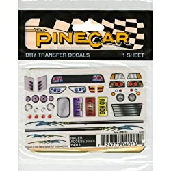 Woodland Scenics P4013 Pine Car Derby Dry Transfer Decal 3 by 2.5-Inch Sheet, Racer Accessories from Woodland Scenics