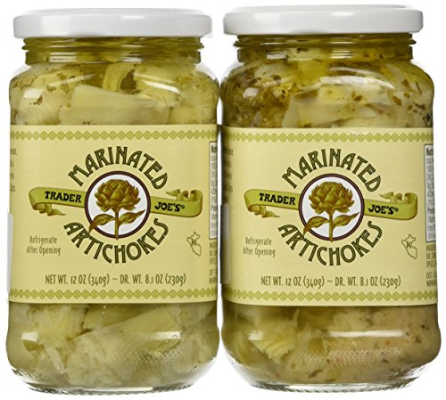 Trader Joe's Marinated Artichokes, 12 oz Jar (2 Pack) ()