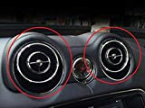 Eppar New Decorative Center Air Condition Cover 4PC for Jaguar XJ 2012-2016 (Silver)