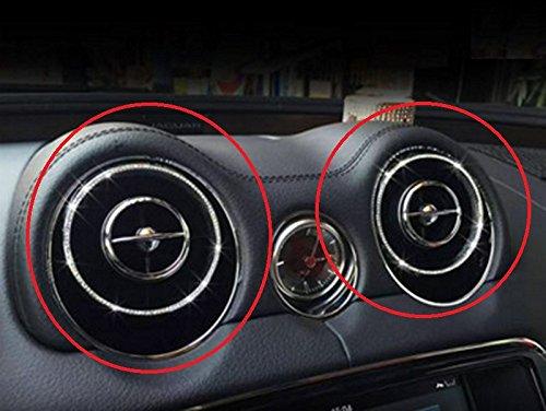 Eppar New Decorative Center Air Condition Cover 4PC for Jaguar XJ 2012-2016 (Silver) by Eppar