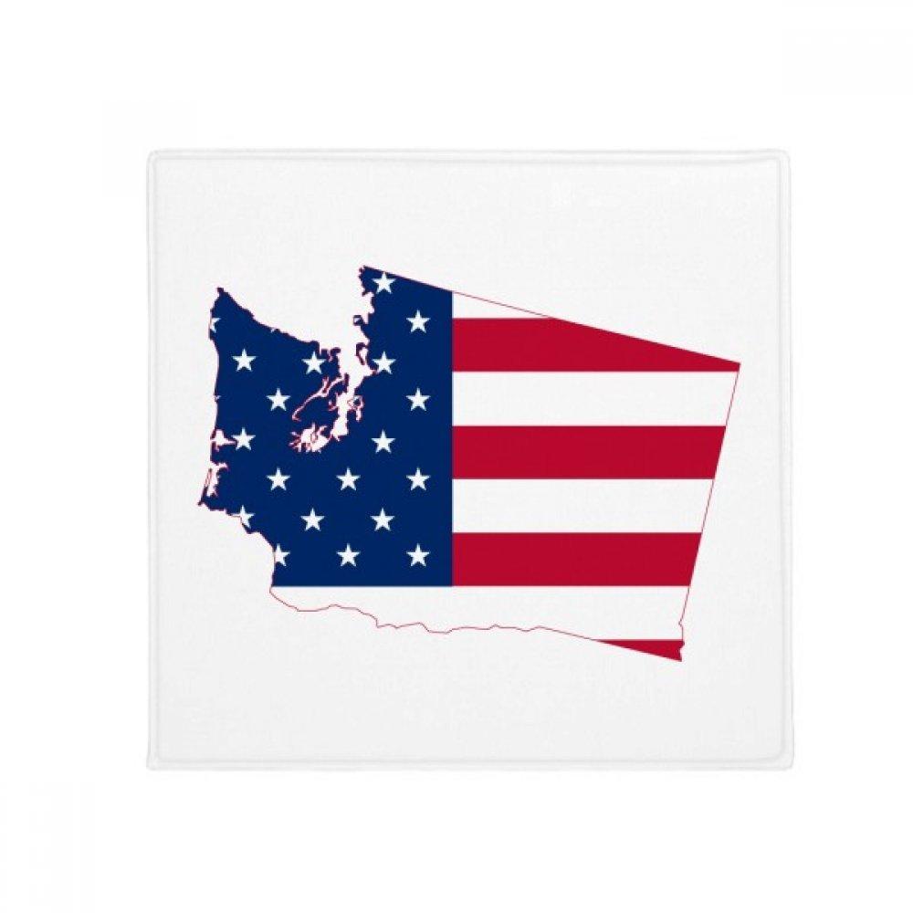 DIYthinker Washington America Map Stars Stripes Flag Anti-Slip Floor Pet Mat Square Home Kitchen Door 80Cm Gift