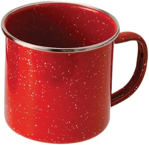 Red oz. Gsi Outdoors Unisexs Pioneer Enamelware Cup 12 fl