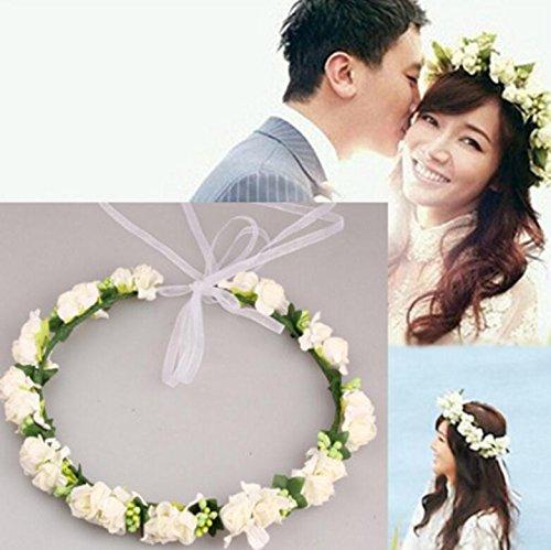 Bridesmaid Wedding Adjustable Bridal Headdress Garlands Pink ncie Un Supplies Party BnHWx6ABq0