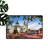 DUCKIL Bedroom Doormat European Royal Palace in Madrid Suitable for Outdoor and Indoor use W31 xL47