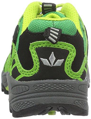 Lico Fremont, Zapatos de Low Rise Senderismo Unisex Niños Verde (GRUEN/SCHWARZ/GELB)