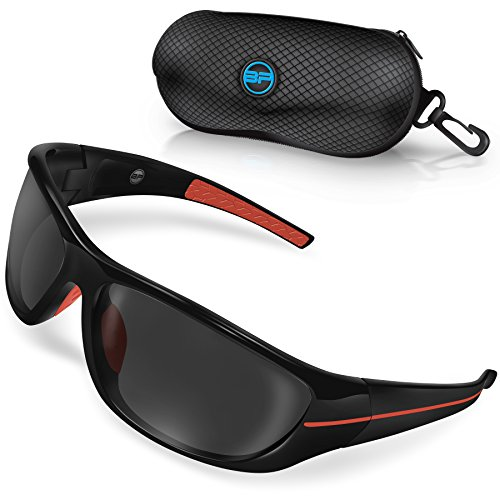 BLUPOND CHOPPER Polarized Driving Sunglasses - Shooting Baseball Cycling Fishing Sunglasses with Anti-Glare HD vision & 5 IN 1 Accessories - Driving Car Sunglasses
