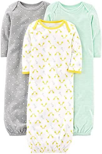 Simple Joys by Carter's Baby 3-Pack Cotton Sleeper Gown
