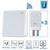 4way fan switch - Remote Control Light Switch,Create 3-way 4-way Switches Easily,Wireless Light Switch and Receiver Kit, No Battery No Wiring,Quick Create Remote Switch For Lamps Fans Appliances,WaterProof,Mington