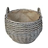 Large Antique Wash Stumpy Wicker Basket