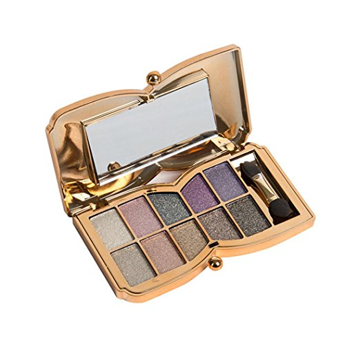Fheaven 10 Colors Shimmer Eyeshadow Eye Shadow Palette Makeup Cosmetic Set (02)