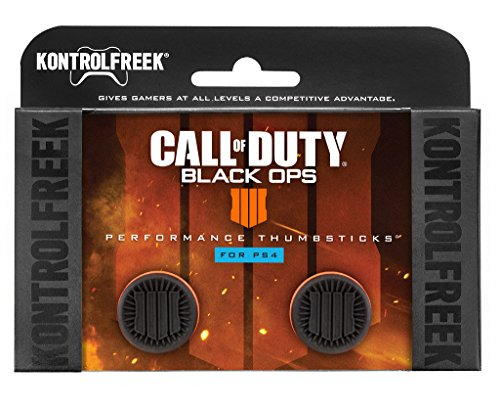 KontrolFreek Call of Duty: Black Ops 4 for PlayStation 4 (PS4) Controller | Performance Thumbsticks | 2 High-Rise | ()