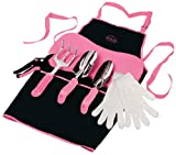 Apollo Tools DT3790P Garden Kit, Pink, 7-Piece, Donation Made to Breast Cancer Research