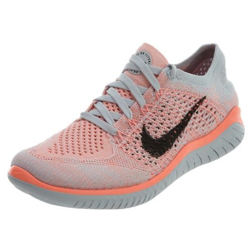 NIKE Women's Free RN Flyknit 2018 Crimson Pulse/Black-Pure Platinum 10.0 by NIKE