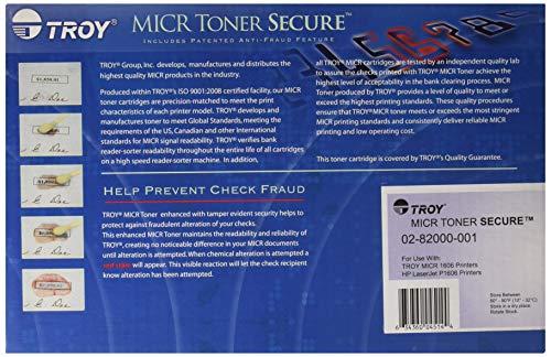 Troy 02-82000-001 OEM Toner - 1606 MICR Toner Secure Cartridge (2100 Yield) (Compatible with HP Laserjet Pro P1606 Printer HP Toner OEM# CE278A) OEM