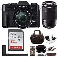 Fujifilm X-T20 Mirrorless Camera w/XC16-50 & XC50-230 Lens w/ Metal HandGrip & Focus Camera Bag & 32GB Card