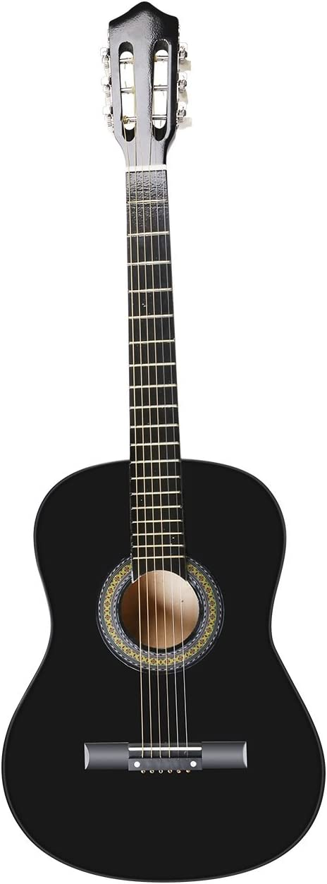 Acoustic Guitar Beginner Kit with Case, Tuner, Pick, Extra Strings, and Strap 517NIv-2BGZL