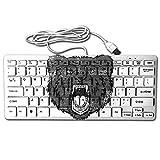 Roaring Grizzly Bear Mini Keyb