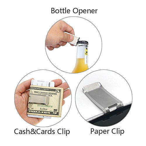 ti edc titanium slim cash money clip wallet credit card holder import it all. Black Bedroom Furniture Sets. Home Design Ideas