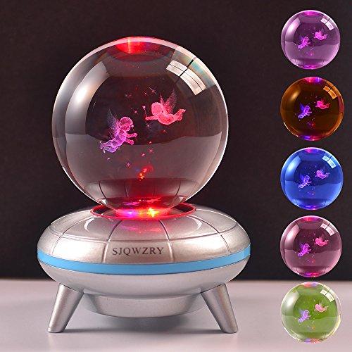 3D Crystal Ball LED Night Light,Base Changes Color Toy Night Light Lamp -20inch (Led Crystal Ball)